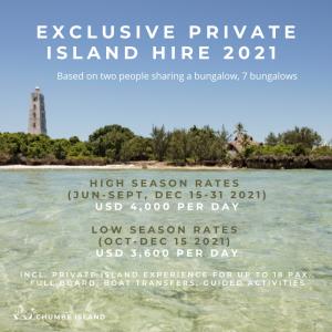 exclusive island hire