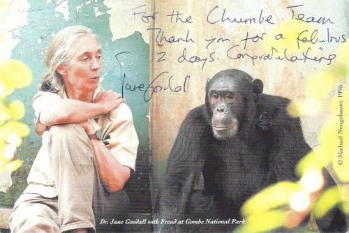 Jane Goodall visits Chumbe Island